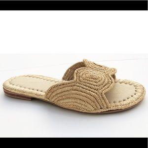 Handmade Raffia Straw Slide Sandals